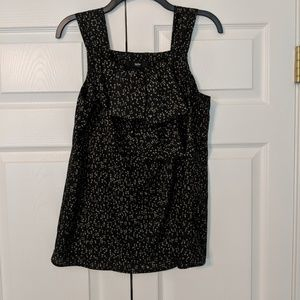 Mossimo black patterned tank top